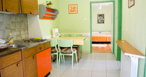 Green kitchen table